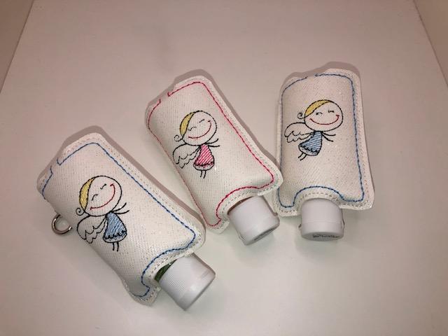 Kleinesbild - Taschenbaumler/ Schlüsselanhänger, Anhänger für Desinfektionsmittel