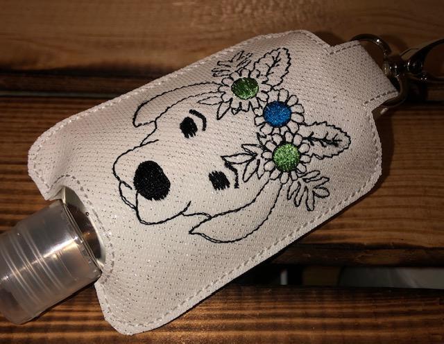 - Taschenbaumler/ Schlüsselanhänger, Anhänger für Desinfektionsmittel/ Schisserbeutel Hund - Taschenbaumler/ Schlüsselanhänger, Anhänger für Desinfektionsmittel/ Schisserbeutel Hund