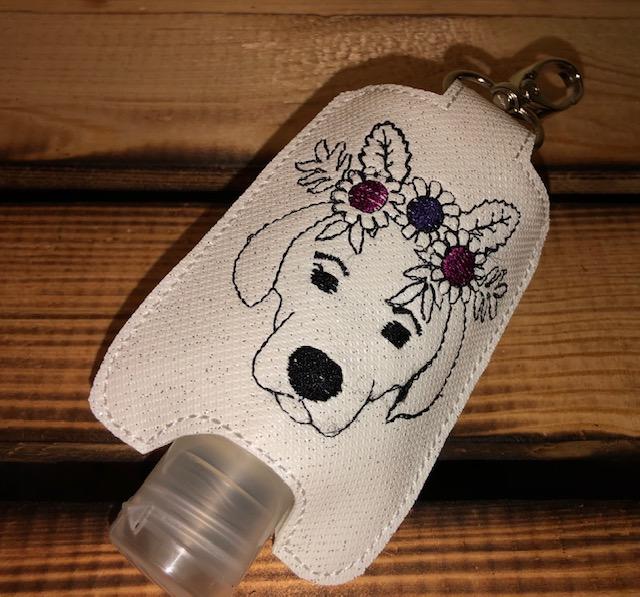 - Taschenbaumler/ Schlüsselanhänger, Anhänger für Desinfektionsmittel Hund  - Taschenbaumler/ Schlüsselanhänger, Anhänger für Desinfektionsmittel Hund