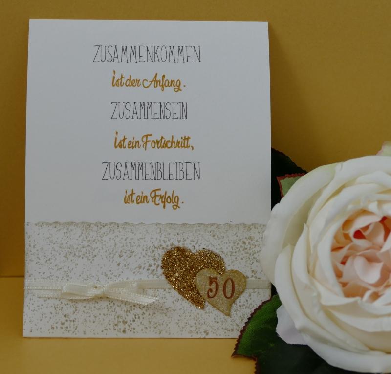 Goldene Hochzeit Handgearbeitete Schiebekarte Mit Kleinem Umschlag Für Ein Kleines Geschenk Kopie Id 100188999