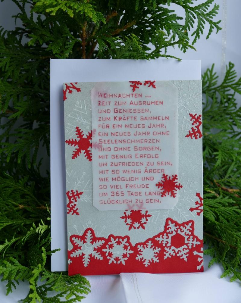 Karte Weihnachten.Karte Zum Weihnachtsfest Aufstellkarte Mit Text Weihnachten Zeit Zum Ausruhen