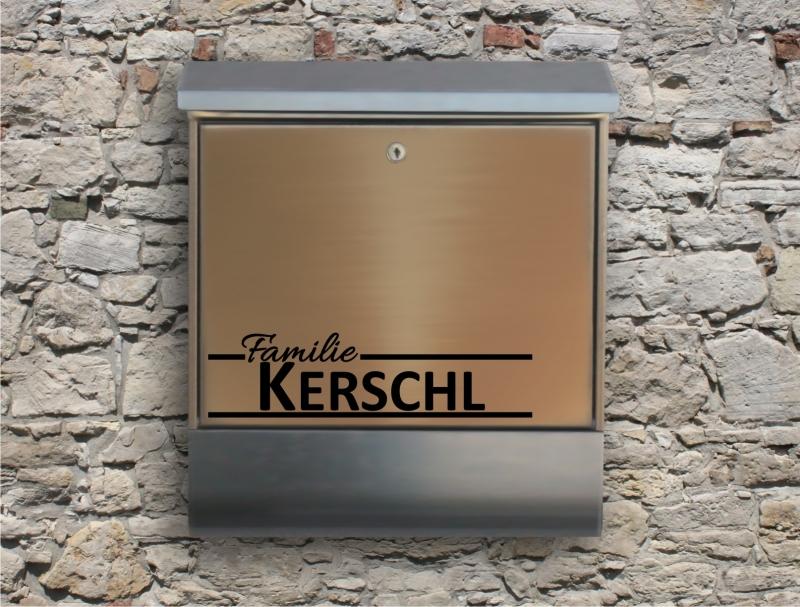 Kleinesbild - Briefkastentattoo in Wunschfarbe - Stripe 21 - Namensaufkleber - Adressaufkleber - Personalisiert - Individuell - Individualisierbar - Design Out Of Norm