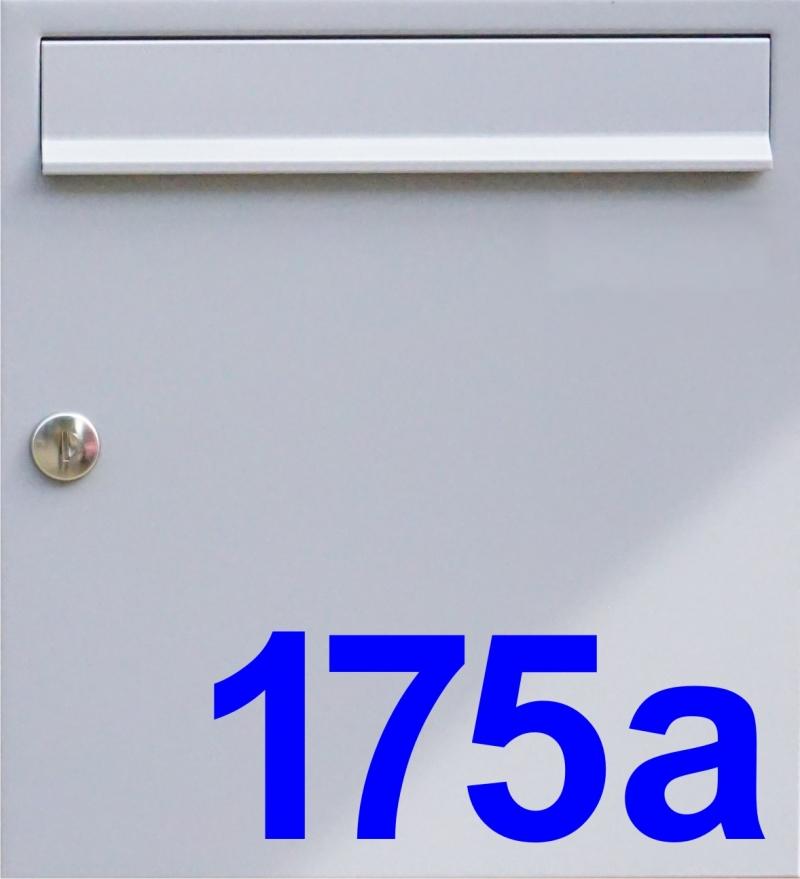 Kleinesbild - Briefkastentattoo in Wunschfarbe - Hausnummer 06 - Namensaufkleber - Adressaufkleber - Personalisiert - Individuell - Individualisierbar - Design Out Of Norm