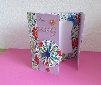 - Eine Faltkarte zum Geburtstag - Eine Faltkarte zum Geburtstag