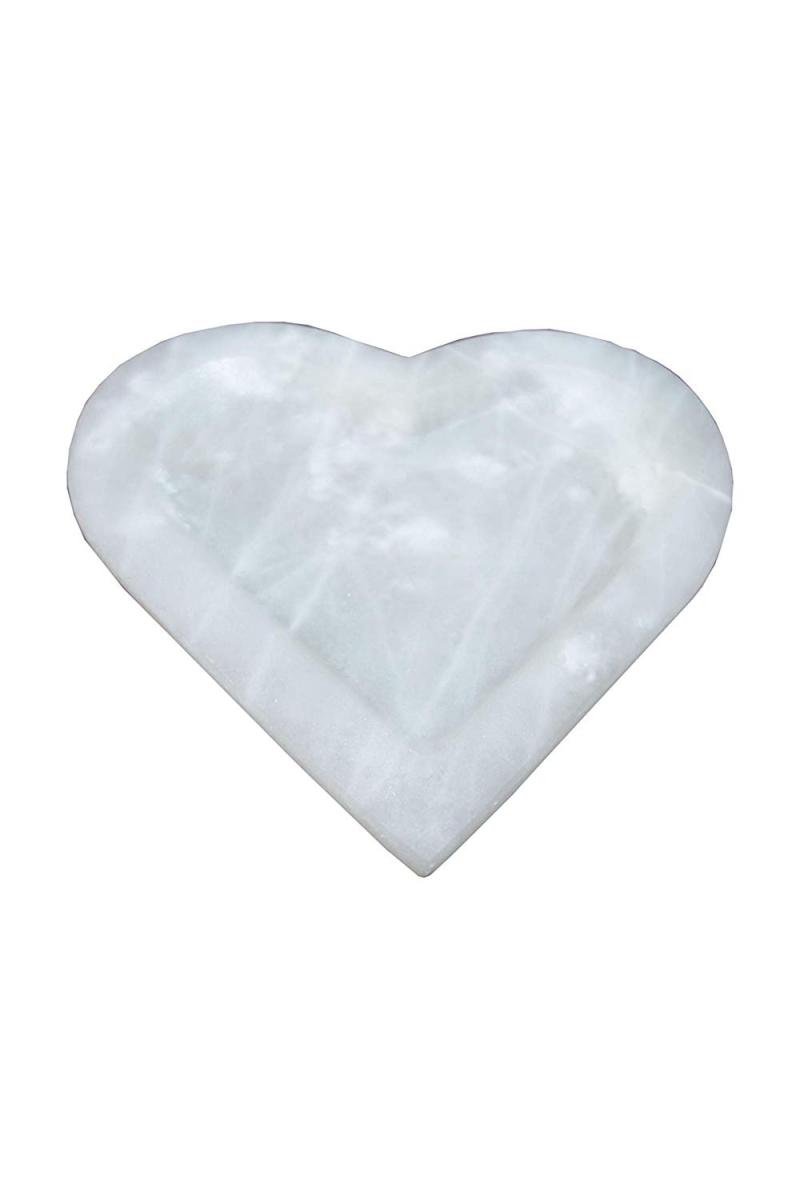 - Dekoschale in Herzform aus mexikanischem Onyx Marmor (Naturstein) aus ONYX ¨Blanco San Luis¨  - Dekoschale in Herzform aus mexikanischem Onyx Marmor (Naturstein) aus ONYX ¨Blanco San Luis¨