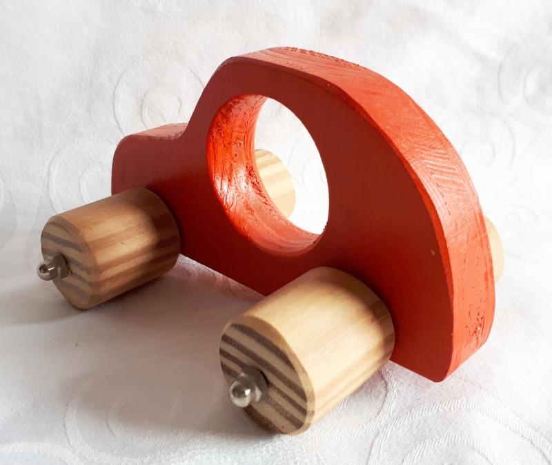 Kleinesbild - Handgefertigtes Spielzeugauto aus Holz für Kinder, zum Nachziehen und Schieben -Deutsche Handarbeit-