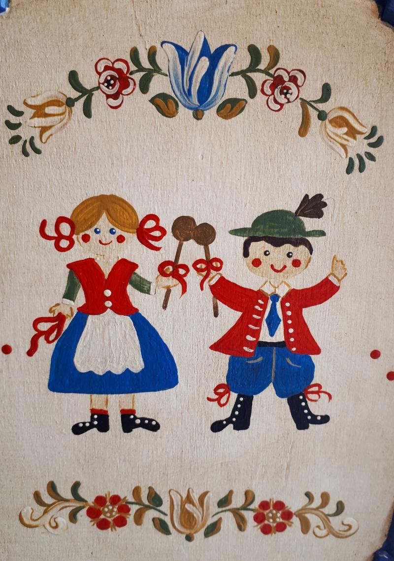 Kleinesbild - Tablett aus Holz handbemalt im Bauernmalerei- und Landhaus-Stil -Deutsche Handarbeit- ***Versandkostenfrei***