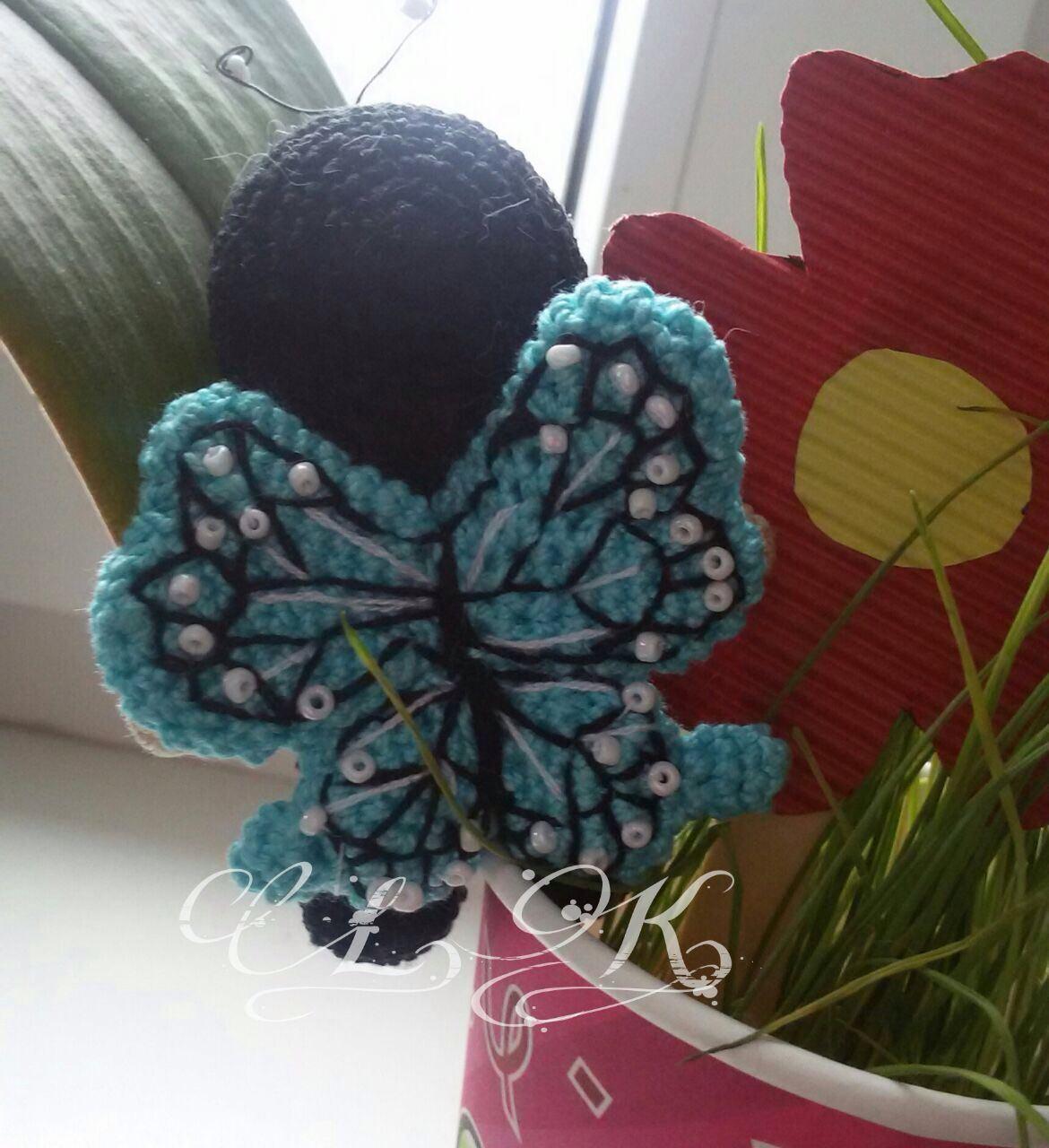 Kleinesbild - Glücksbringer Schmetterling gehäkelt mit viel Liebe
