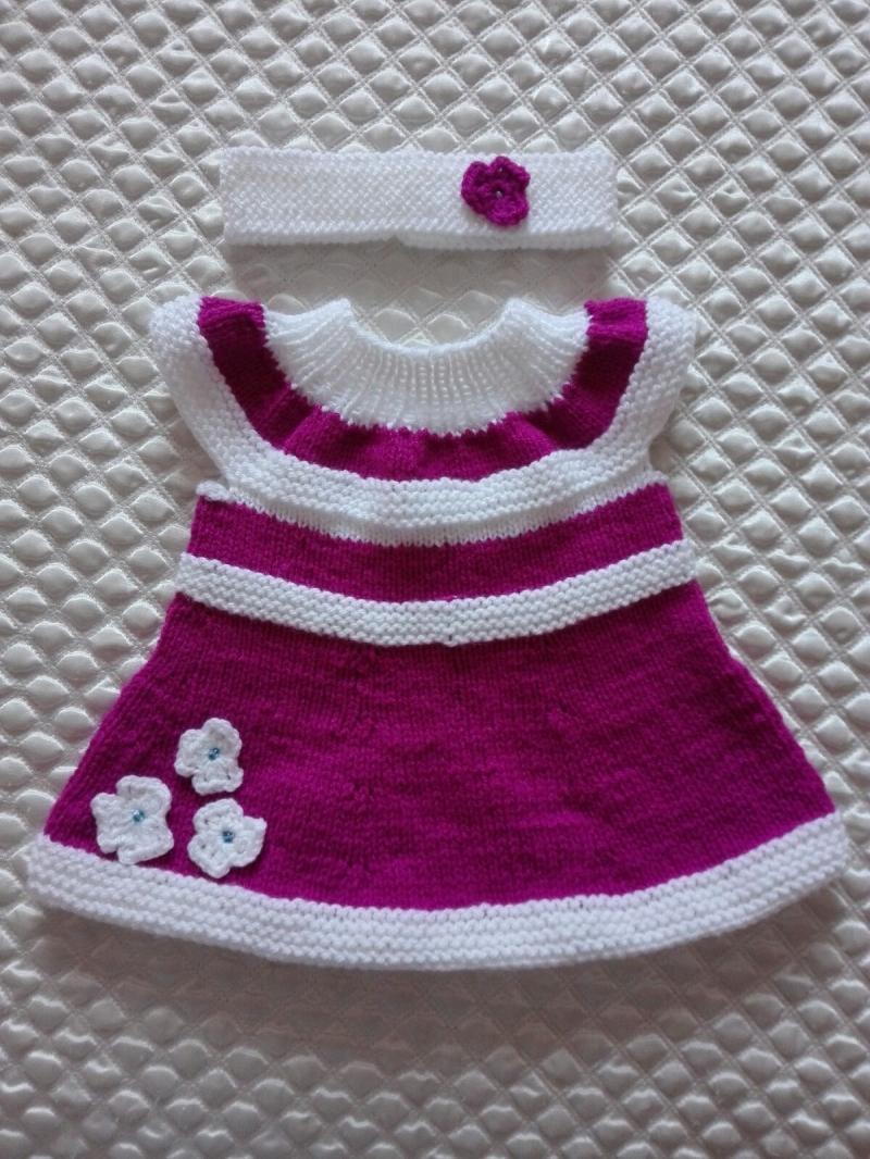 Kleinesbild - Schönes gestricktes Babykleid-Tunika