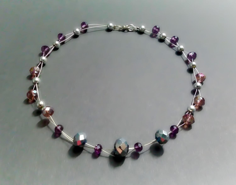 Kleinesbild - Collier aus Glasperlen