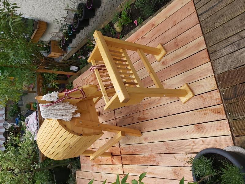 Kleinesbild - Holzpferd für denn Garten
