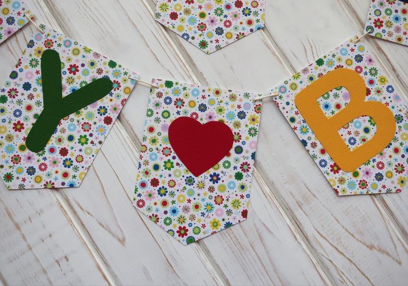 Kleinesbild - Tolles Geburtstagsgeschenk Girlande mit Happy Birthday für Frauen und Männer Wimpelkette