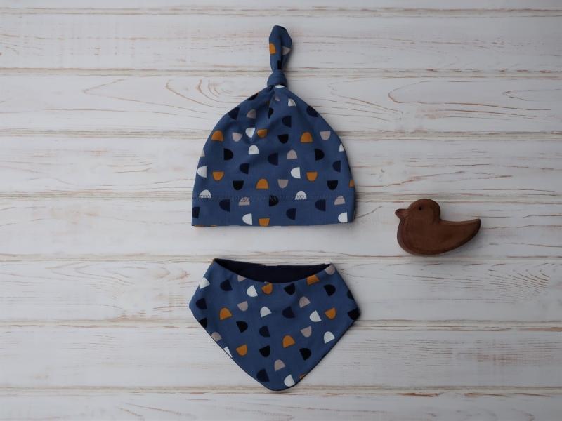 - Babymütze und Dreieckstuch - ein hübsches Geschenk für Neugeborene - Gr. 62/68 - Baby Geschenkset - Babymütze und Dreieckstuch - ein hübsches Geschenk für Neugeborene - Gr. 62/68 - Baby Geschenkset