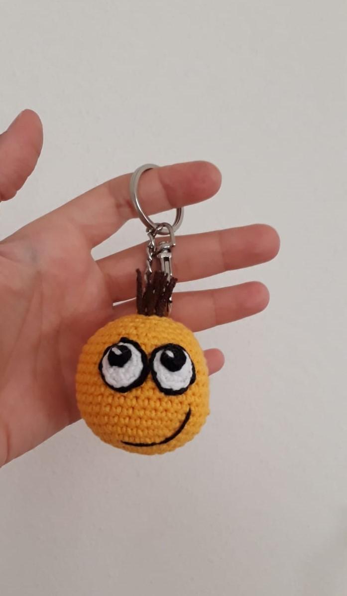 Amigurumi Crochet Keychain emoji amigurumi.part 2 final ... | 1196x697