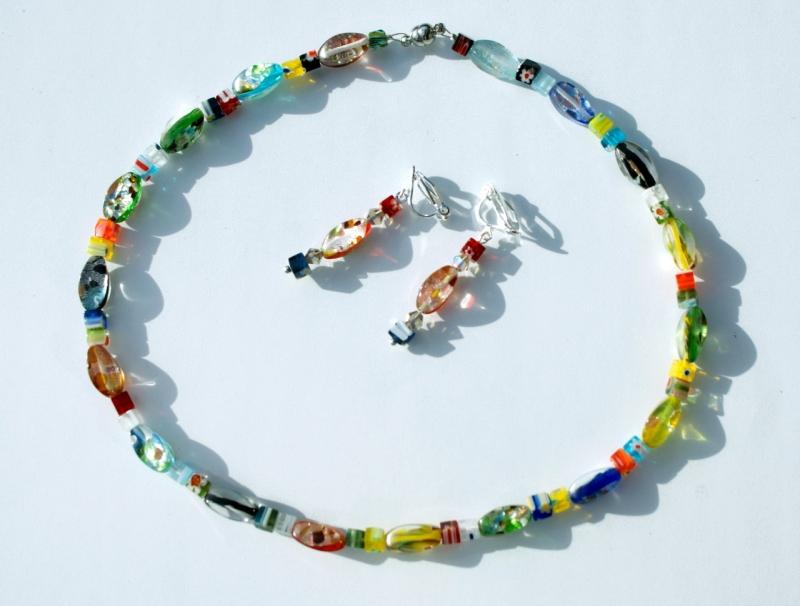 Kleinesbild - Kinder-Kette KUNTERBUNT Millefiori