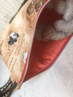 Kleinesbild - Projekttasche Handarbeitstasche Hundefreunde