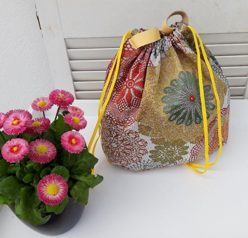 - Innenbeutel für Leder Netztasche but mit Blumen - Innenbeutel für Leder Netztasche but mit Blumen