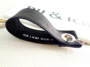 Valentinstag - Schlüsselanhänger Leder