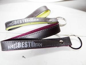 Schlüsselanhänger Leder mit Name für deine