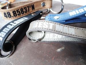 Leder Schlüsselanhänger mit Wunschtext