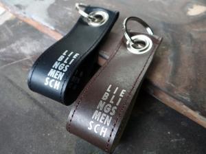 Schlüsselanhänger Lieblingsmensch aus Leder -individualisierbar, das schöne Geschenk zum Valentinstag