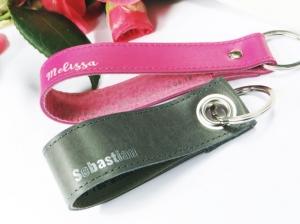 Trauzeuge / Trauzeugin - Leder Schlüsselanhänger Set ,  eignet sich auch als Paaranhänger zum Valentinstag