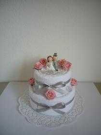 Hochzeitsgeschenk Herz Rosen Hochzeitstorte Geschenk Hochzeit - Handarbeit kaufen