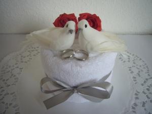 Geldgeschenke Hochzeit Hochzeitsgeschenke Tauben Ringe rote Rosen Standesamt - Handarbeit kaufen