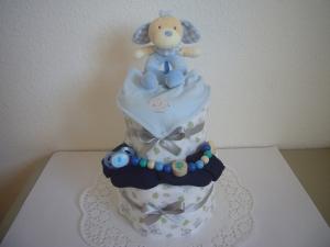 Windeltorte Junge Taufe Geburt Elefant Babyparty Babyshower Pinkelparty - Handarbeit kaufen