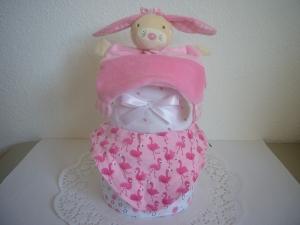Windeltorte Flamingo Mädchen Geburt Taufe Baby