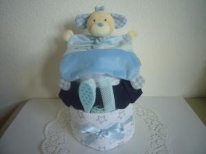 Windeltorte Sterne Junge blau türkis Geburt Taufe - Handarbeit kaufen