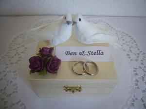 Hochzeit Geldgeschenk Flitterwochen Tauben Rosen Hochzeitsgeschenk Geld