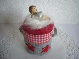 Geschenk Weihnachten mit süßem Beschützer Weihnachtsgeschenk Geschenke Nikolaus - Handarbeit kaufen