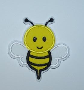 Stickapplikation, gestickter Aufnäher  Biene