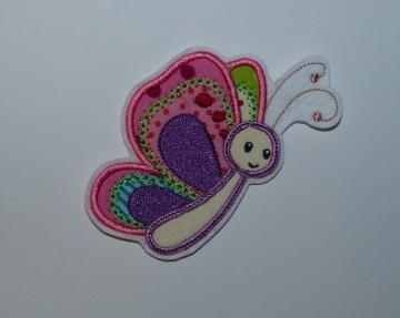 Stickapplikation,  gestickter Aufnäher Schmetterling