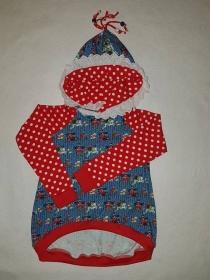 Mädchen Shirt Milli, weiße Punkte Gr 122
