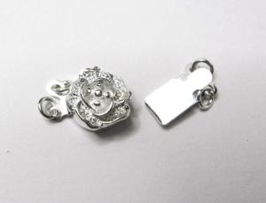 Silber 925 Blume Kastenverschluss