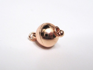 10 mm Magnetverschluss rosevergoldet