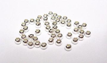 50 Perlen 1,8 mm aus 925er Sterling Silber Quetschperlen