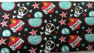 Webband Farbenmix Punk-Skull