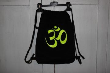 Goa Turnbeutel schwarzer Beutel Om Zeichen Rucksack Goarucksack - Handarbeit kaufen