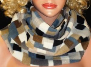 Kuschel Loop/Schlauchschal kuschel Fleece weiß beige schlamm hellgrau grau schwarz bunth Regenbogenfarben Kuschel Schlauchschal für Männer  - Handarbeit kaufen