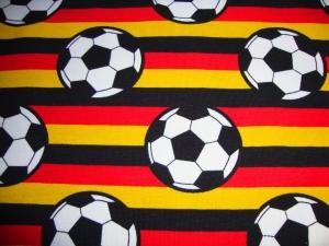 Jersey Fußbälle gestreift Deutschland gelb rot schwarz - Handarbeit kaufen