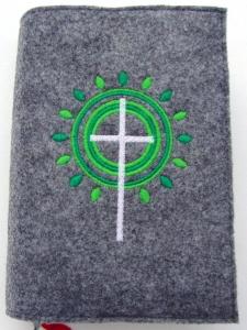 Gotteslobhülle handgemacht graumeliert aus 3mm Filz