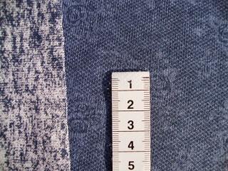 French Terry Sterne Batikoptik jeansblau 160cm Br