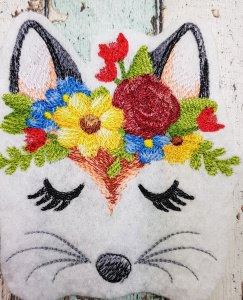 Aufnäher Enchanting Fox Face Fuchs gestickt Patch