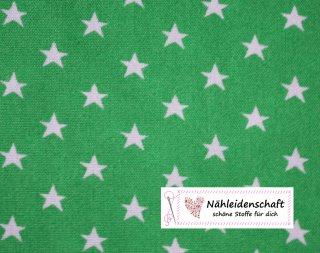 1 m Sternestoff Sternemuster grün weiß  6 mm