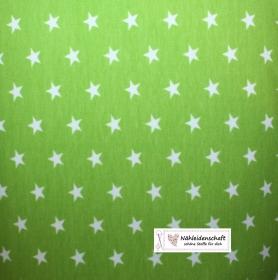Sweatshirt Sweat Stern apfel grün weiß weich Sweatshirtstoff