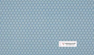 Jersey elastisch hellblau Streublümchen weiß