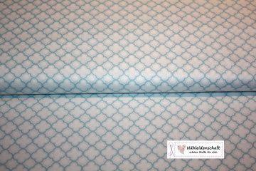 Patchworkstoff Baumwollstoff sorbet blau weiß